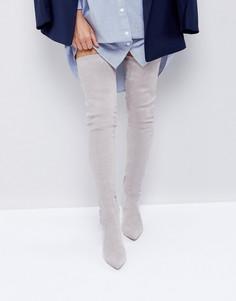 Ботфорты с заостренным носком ASOS KENDRA - Серый