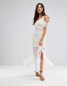 Кружевное платье макси Parisian - Белый