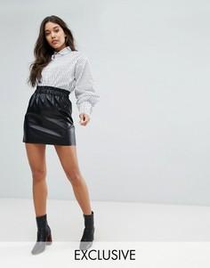 Мини-юбка из искусственной кожи Missguided - Черный