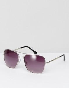 Квадратные солнцезащитные очки Jeepers Peepers - Серебряный