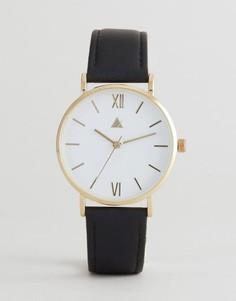 Классические часы с черным кожаным ремешком ASOS CURVE - Черный