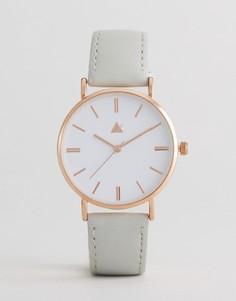 Часы с серым кожаным ремешком ASOS - Серый