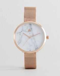 Часы с мраморным принтом на циферблате ASOS - Медный