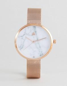 Часы с сетчатым ремешком и мраморным циферблатом ASOS CURVE - Медный