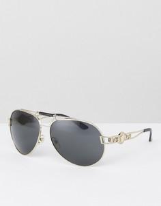 Солнцезащитные очки-авиаторы Versace - Черный