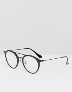 Круглые солнцезащитные очки Ray-Ban 0RX7097 - Черный