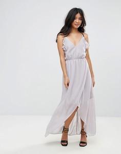 Платье с оборками Glamorous - Серый