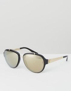 Золотистые солнцезащитные очки‑авиаторы Versace - Золотой
