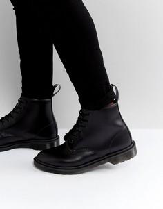 Черные ботинки с 6 парами люверсов Dr Martens 101 BR - Черный