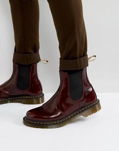 Блестящие ботинки челси Dr Martens 2976 - Красный