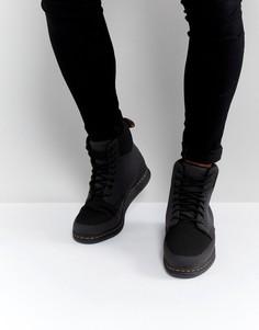 Ботинки с 8 парами люверсов Dr Martens Lite Rigal - Черный