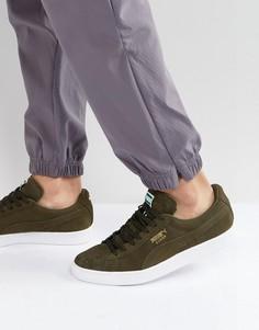 Зеленые замшевые кроссовки Puma Classic 35656865 - Зеленый