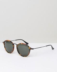 Круглые солнцезащитные очки Ray-Ban 0RB2447 - Коричневый