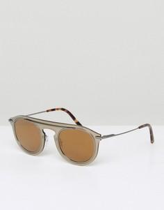 Круглые солнцезащитные очки Dolce & Gabbana - Серебряный