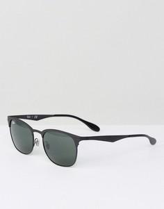 Солнцезащитные очки-клабмастеры Ray-Ban 0RB3538 - Черный