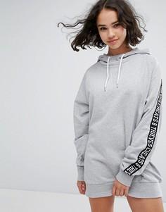 Платье-свитшот с лентой на рукавах Cheats & Thieves - Серый