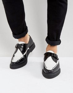 Черно-белые кожаные монки-криперы ASOS - Черный