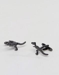 Запонки с динозаврами ASOS - Черный