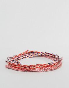 Красные плетеные браслеты ASOS - Мульти