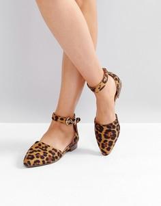 Балетки с леопардовым принтом RAID Debbie - Мульти