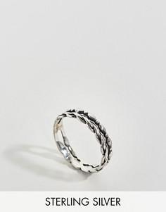 Серебряное кольцо с двойным дизайном ASOS - Серебряный