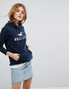 Худи с логотипом Hollister - Темно-синий