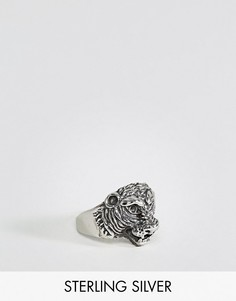 Серебряное кольцо с тигром ASOS - Серебряный