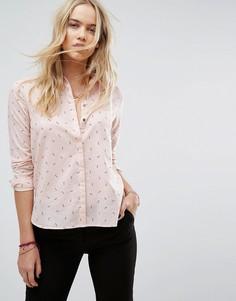 Рубашка с принтом ключей Maison Scotch - Розовый