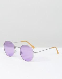 Круглые очки с затемненными сиреневыми стеклами South Beach - Фиолетовый