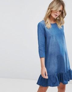 Джинсовое платье с рукавами 3/4 JDY - Синий