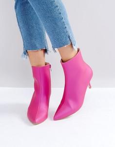 Ботинки на каблуке-рюмочке RAID Alecia - Розовый