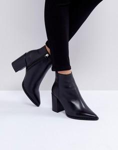 Кожаные ботинки с заклепками ASOS ESTABLISH - Черный