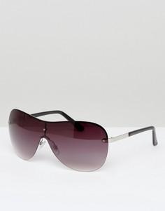Солнцезащитные очки-авиаторы в стиле оверсайз Monki - Черный