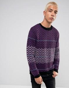 Фиолетовый джемпер в стиле ретро ASOS - Фиолетовый