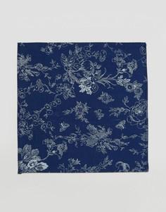 Платок для нагрудного кармана с принтом в восточном стиле Noose & Monkey - Синий