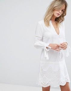Сарафан с вырезом и кисточками New Look - Белый