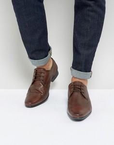 Коричневые кожаные броги Silver Street - Коричневый