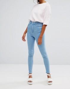 Облегающие джинсы с завышенной талией Waven Anika - Синий