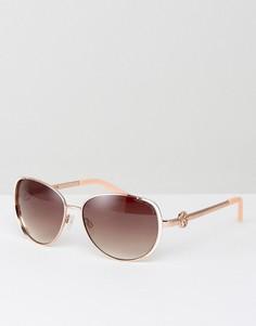 Солнцезащитные очки цвета розового золота Kurt Geiger - Золотой
