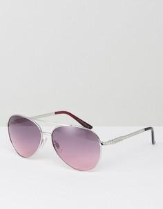 Солнцезащитные очки-авиаторы с затемненными стеклами Carvela - Серебряный