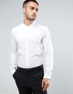 Супероблегающая строгая рубашка с воротником на пуговице Calvin Klein - Белый