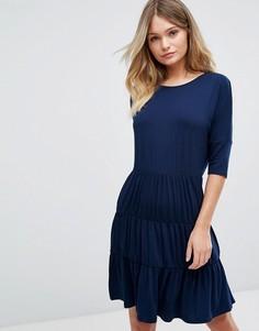 Свободное платье с 3 вставками Boohoo - Темно-синий