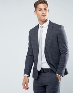 Зауженный фактурный пиджак Burton Menswear - Серый