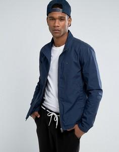 Темно-синяя куртка Харрингтон с логотипом-флажком Tommy Hilfiger Denim - Темно-синий