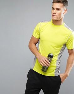 Серо-желтая футболка New Look SPORT - Желтый