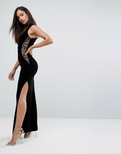 Платье с кружевными вставками Lipsy - Черный