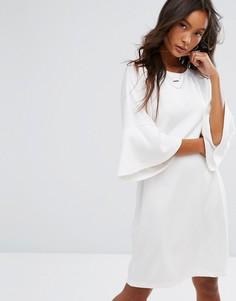 Платье с расклешенными рукавами Noisy May - Белый