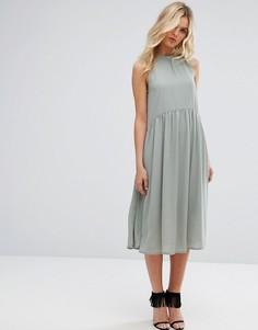 Платье миди с высоким воротом Y.A.S - Зеленый