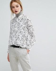 Рубашка с принтом собак Sportmax Code - Белый