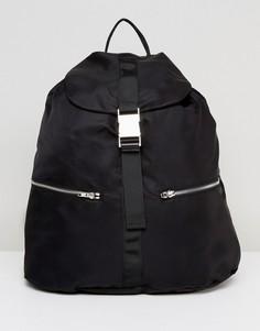 Рюкзак с пряжкой Weekday - Черный
